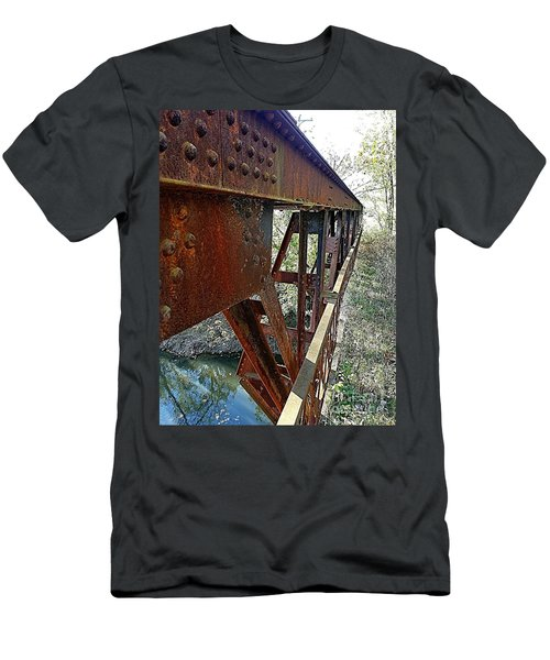 Abandoned Steel Bridge Nashville Indiana Men's T-Shirt (Athletic Fit)