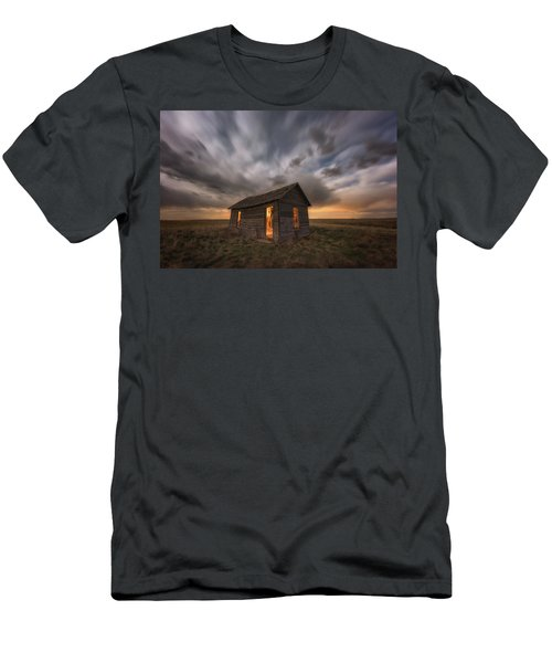 Men's T-Shirt (Athletic Fit) featuring the photograph Abandoned Winds by Darren White
