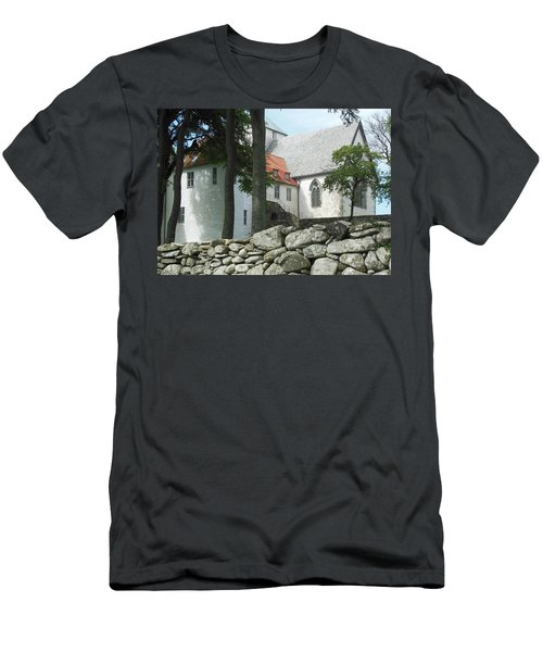 Abbey Exterior #2 Men's T-Shirt (Slim Fit) by Susan Lafleur