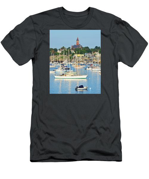 Abbot Hall Over Marblehead Harbor From Chandler Hovey Park Men's T-Shirt (Athletic Fit)
