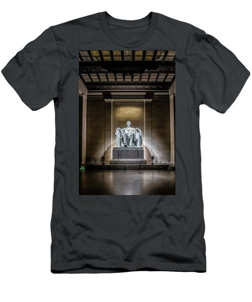 Abe Lincoln Under His Night Lights  Men's T-Shirt (Athletic Fit)