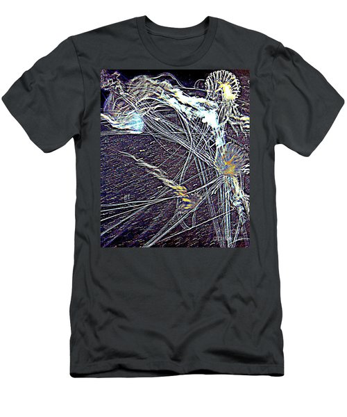 Men's T-Shirt (Slim Fit) featuring the photograph Aberration Of Jelly Fish In Rhapsody Series 1 by Antonia Citrino