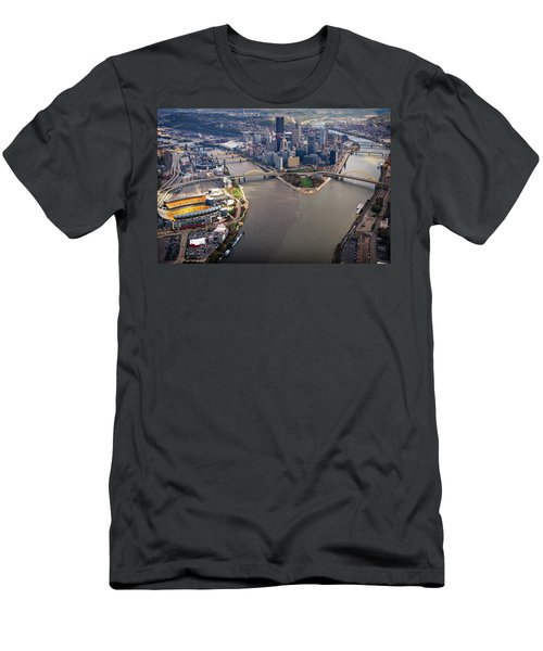 Above Pittsburgh In  Color  Men's T-Shirt (Athletic Fit)