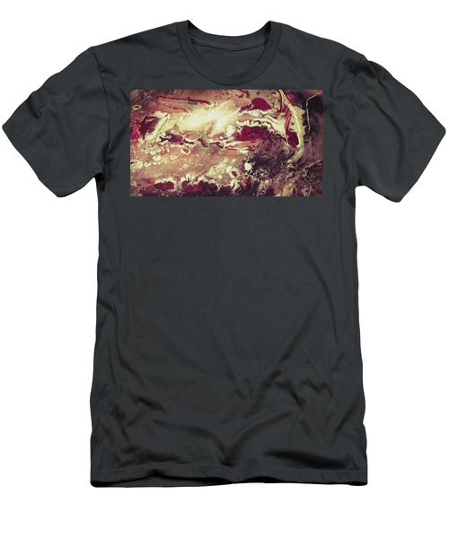 Above The Clouds - Contemporary Earth Tone Abstract Painting Men's T-Shirt (Athletic Fit)