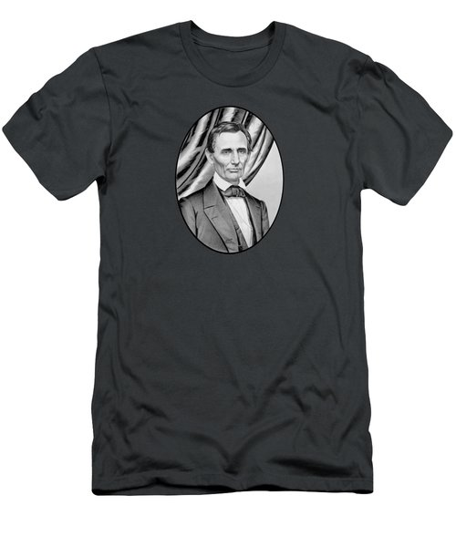 Abraham Lincoln Circa 1860 Men's T-Shirt (Slim Fit) by War Is Hell Store