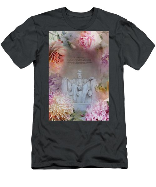 Men's T-Shirt (Athletic Fit) featuring the photograph Abraham Lincoln Memorial At Spring by Marianna Mills