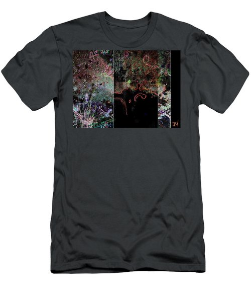 Men's T-Shirt (Athletic Fit) featuring the digital art Abstract - 07oct2017 by Jim Vance