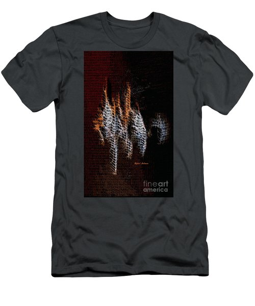 Men's T-Shirt (Athletic Fit) featuring the digital art Abstract 401 by Rafael Salazar