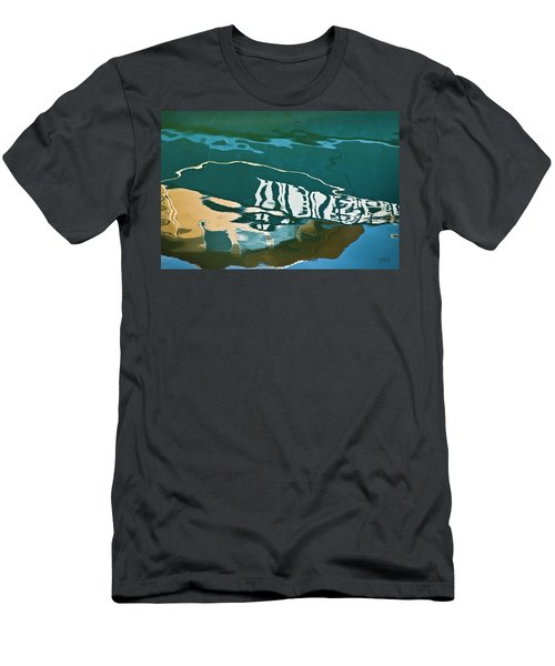 Men's T-Shirt (Athletic Fit) featuring the photograph Abstract Boat Reflection by Dave Gordon