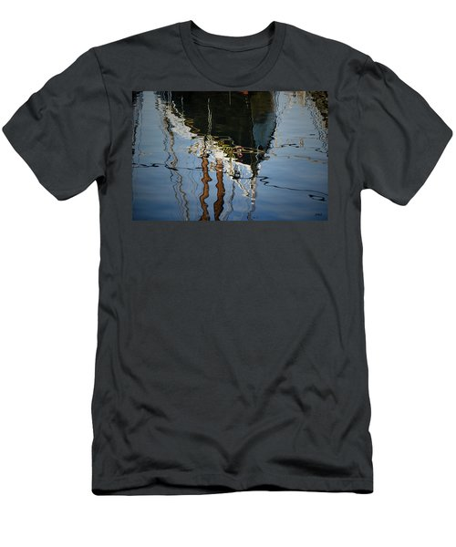 Abstract Boat Reflection IIi Men's T-Shirt (Athletic Fit)