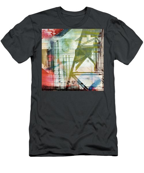 Abstract Bridge With Color Men's T-Shirt (Slim Fit) by Susan Stone