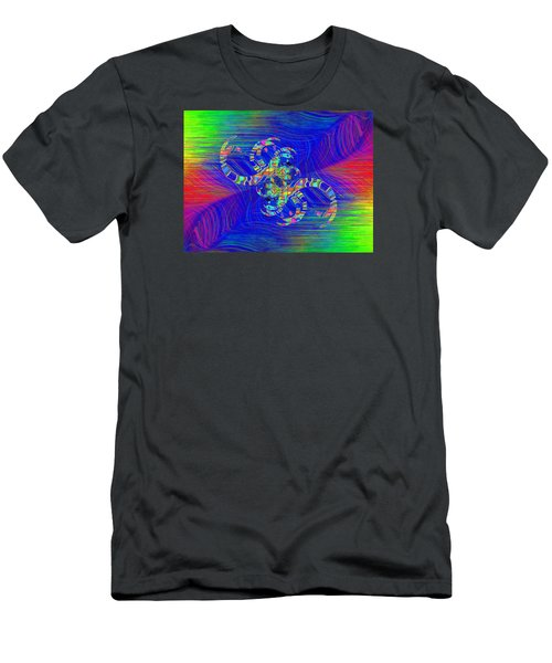 Men's T-Shirt (Slim Fit) featuring the digital art Abstract Cubed 362 by Tim Allen