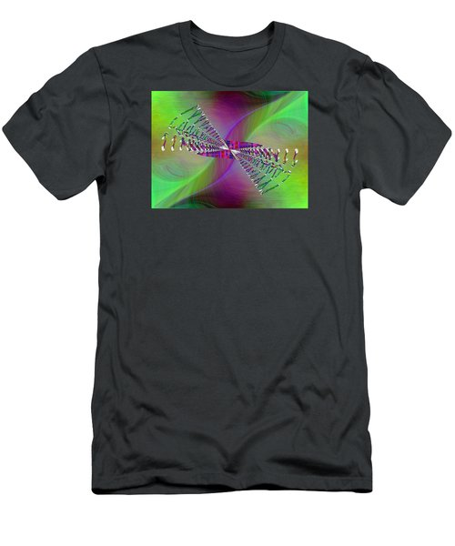 Men's T-Shirt (Slim Fit) featuring the digital art Abstract Cubed 370 by Tim Allen