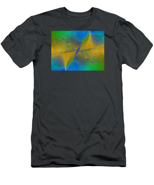 Men's T-Shirt (Slim Fit) featuring the digital art Abstract Cubed 380 by Tim Allen