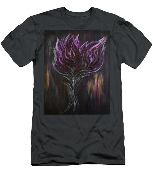 Abstract Dark Rose Men's T-Shirt (Athletic Fit)