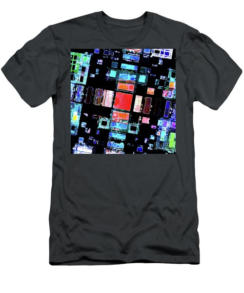 Men's T-Shirt (Slim Fit) featuring the digital art Abstract Geometric Art by Phil Perkins