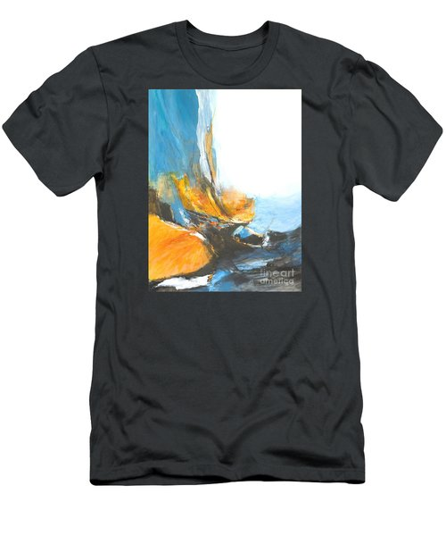 Abstract In Motion Men's T-Shirt (Slim Fit) by Glory Wood