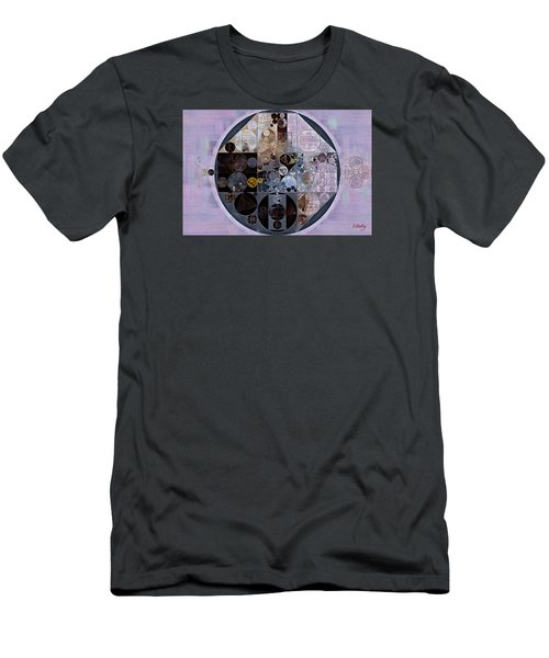 Men's T-Shirt (Slim Fit) featuring the digital art Abstract Painting - Pastel Purple by Vitaliy Gladkiy