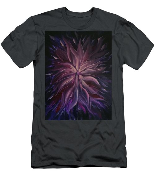 Abstract Purple Flower Men's T-Shirt (Athletic Fit)