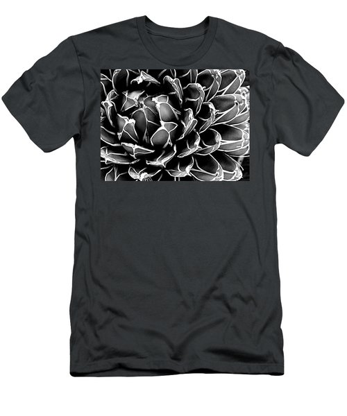 Men's T-Shirt (Slim Fit) featuring the photograph Abstract Succulent by Ranjini Kandasamy