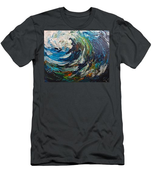 Abstract Wild Wave  Men's T-Shirt (Athletic Fit)
