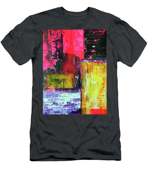 Men's T-Shirt (Slim Fit) featuring the painting Abstractor by Everette McMahan jr