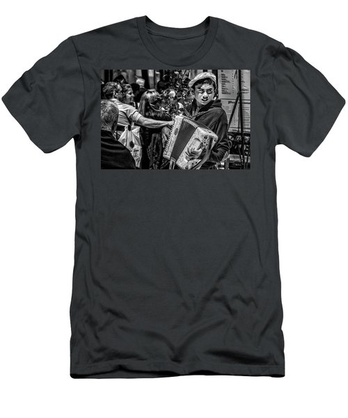 Accordion Player Men's T-Shirt (Slim Fit) by Patrick Boening