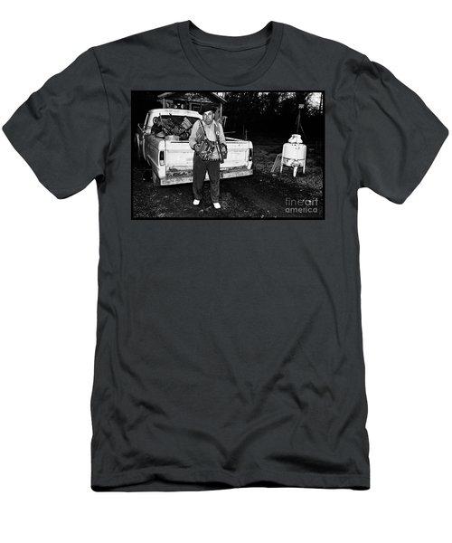 Accordion Scrapper Man  Men's T-Shirt (Slim Fit) by Peter Gumaer Ogden