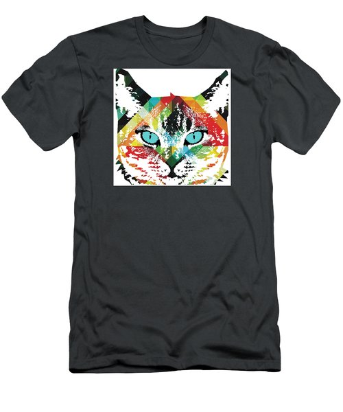 Acid Cat Dream By Robert R Men's T-Shirt (Athletic Fit)