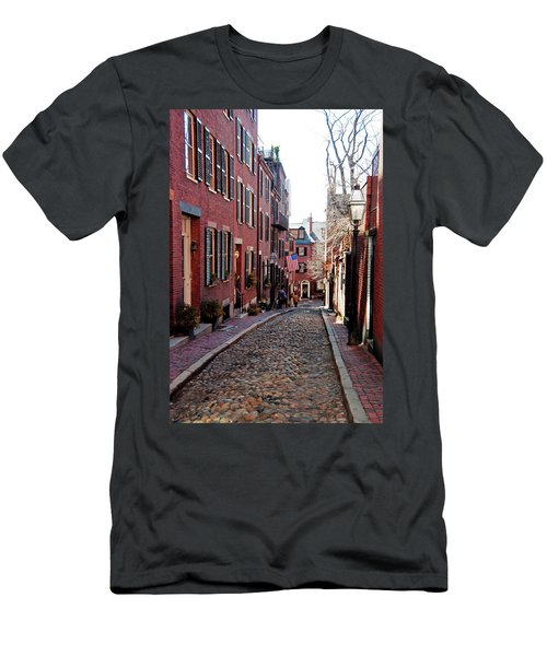 Acorn Street Beacon Hill Men's T-Shirt (Athletic Fit)