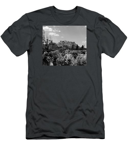 Acropolis Black And White Men's T-Shirt (Slim Fit) by Robert Moss