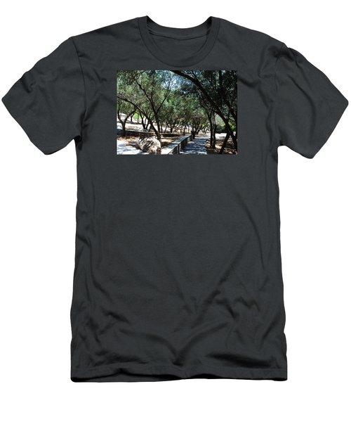 Acropolis Trail Men's T-Shirt (Slim Fit) by Robert Moss
