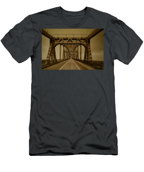 Across The Old Bridge Men's T-Shirt (Athletic Fit)