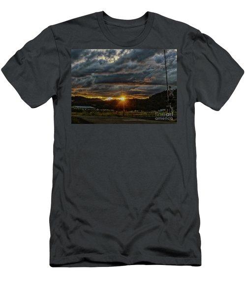 Across The Tracks Men's T-Shirt (Slim Fit) by Billie-Jo Miller