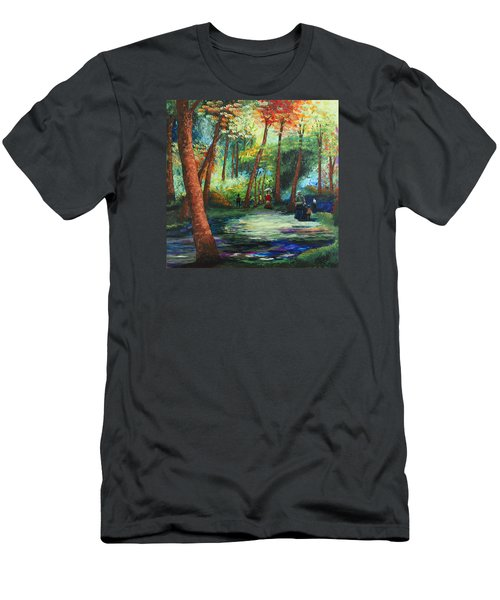 Acrylic Msc 217 Men's T-Shirt (Slim Fit) by Mario Sergio Calzi