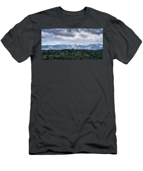 Men's T-Shirt (Slim Fit) featuring the photograph Adirondack High Peaks During Winter - New York by Brendan Reals