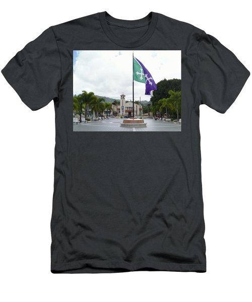 Adjuntas, Puerto Rico Flag Men's T-Shirt (Athletic Fit)