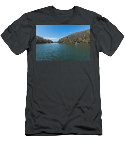 Men's T-Shirt (Athletic Fit) featuring the photograph Weeks Creek At Admiral Heights by Charles Kraus