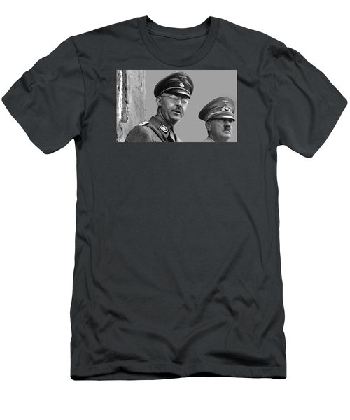 Adolf Hitler And Gestapo Head Heinrich Himmler Watching Parade Of Nazi Stormtroopers 1940-2015 Men's T-Shirt (Slim Fit) by David Lee Guss