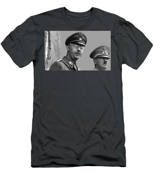 Adolf Hitler And Gestapo Head Heinrich Himmler Watching Parade Of Nazi Stormtroopers 1940-2015 Men's T-Shirt (Athletic Fit)