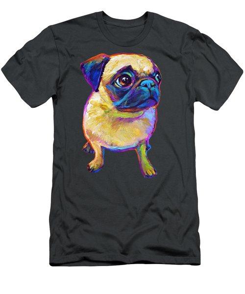 Adorable Pug Men's T-Shirt (Athletic Fit)