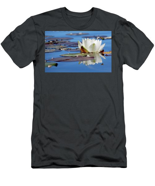 Men's T-Shirt (Athletic Fit) featuring the photograph Adoring White by Amee Cave