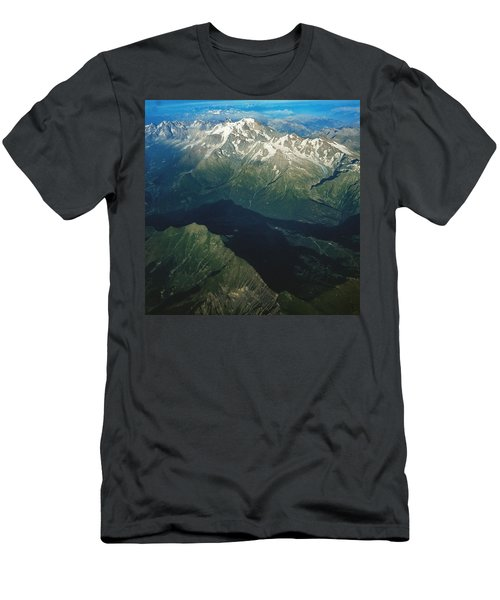 Aerial Photograph Of The Swiss Alps Men's T-Shirt (Athletic Fit)