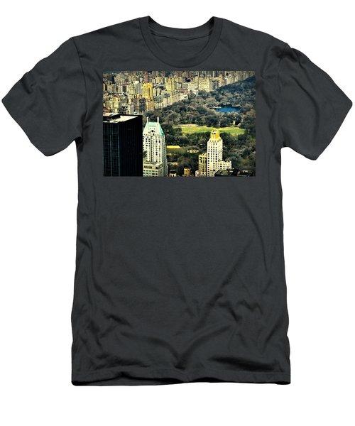 Aerial View Central Park Men's T-Shirt (Athletic Fit)