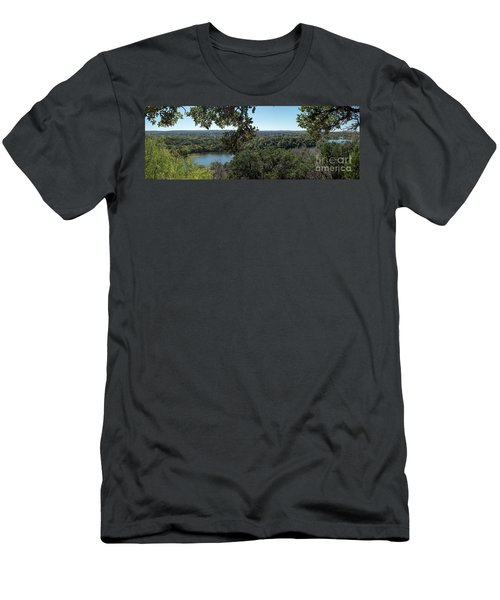 Aerial View Of Large Forest And Lake Men's T-Shirt (Athletic Fit)