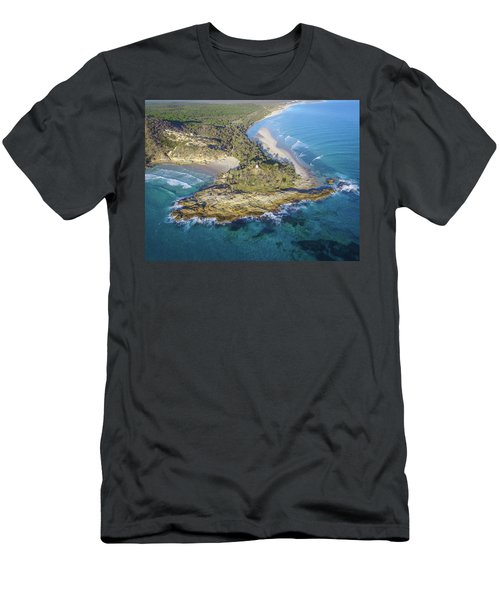 Aerial View Of North Point, Moreton Island Men's T-Shirt (Athletic Fit)