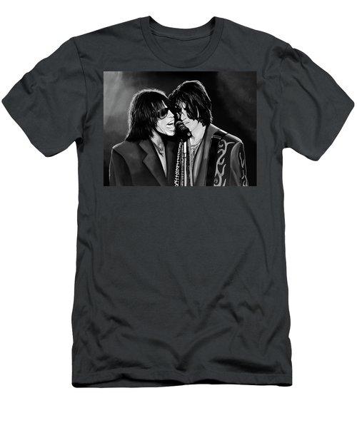 Aerosmith Toxic Twins Mixed Media Men's T-Shirt (Slim Fit) by Paul Meijering
