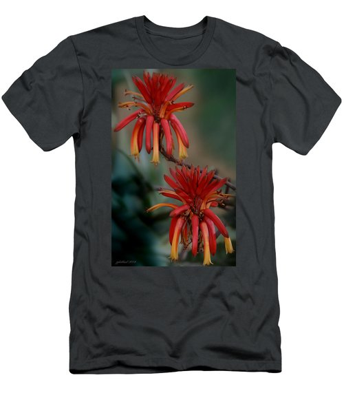 African Fire Lily Men's T-Shirt (Athletic Fit)