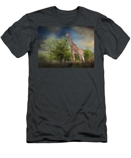African Giraffe Men's T-Shirt (Athletic Fit)