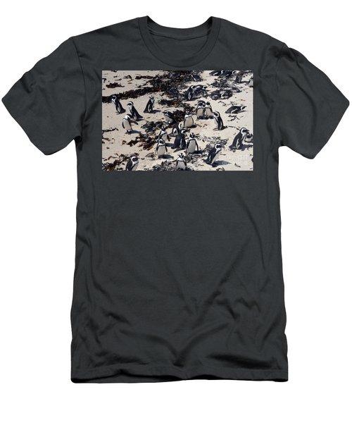 Men's T-Shirt (Slim Fit) featuring the digital art African Penguin 3 by Eva Kaufman